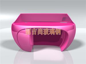 半弧形玻璃钢雕塑前台(粉红)