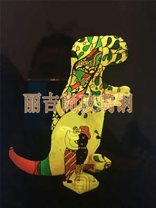 彩绘哈巴狗玻璃钢动物雕塑
