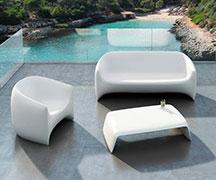 U型椅玻璃钢雕塑