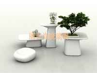 白色室内玻璃钢雕塑观赏玻璃钢花盆