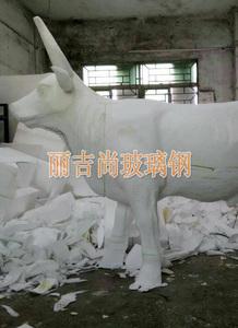 玻璃钢公牛雕塑