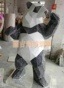 玻璃钢黑熊雕塑