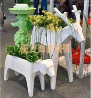 玻璃钢雕塑花盆梅花鹿花器