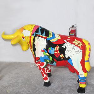 树脂玻璃钢牛雕塑