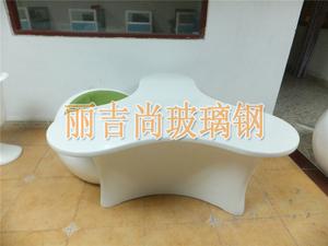 3角玻璃钢雕塑桌子茶几