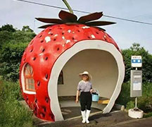 玻璃钢雕塑草莓屋
